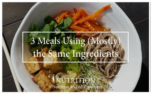 3 Meals Using (Mostly) the Same Ingredients