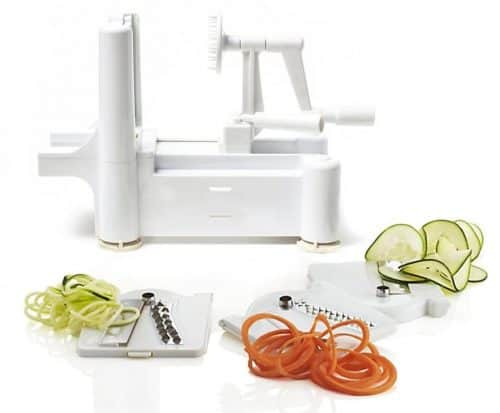 spiralizer with 3 blade attachments