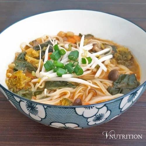 leftover vegetable noodle soup