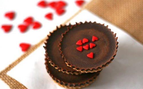 Dark Chocolate Peanut Butter Cups {GF}