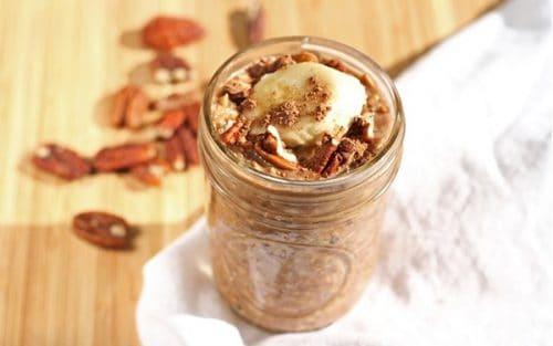 Peanut Butter Chocolate Overnight Oats {GF}