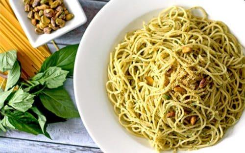 Vegan Pistachio Pesto Pasta {gluten free}