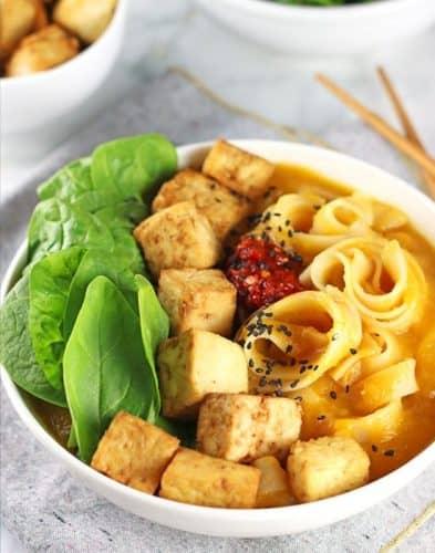 Butternut Squash Noodle Bowl with Tofu {GF}
