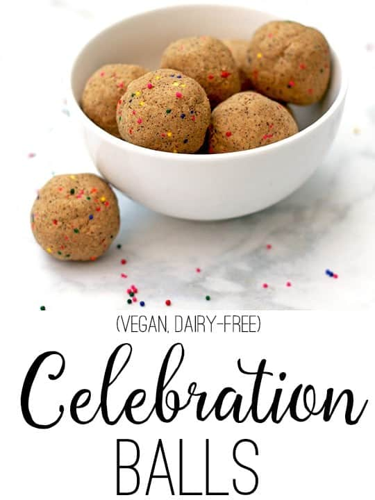 Protein balls good for any celebration! Vegan & Dairy Free. From www.vnutritionandwellness.com