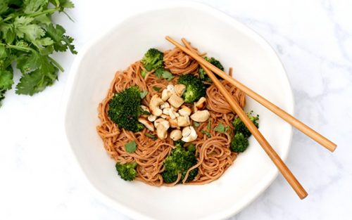 Quick Curry Noodles with Toasted Cashews