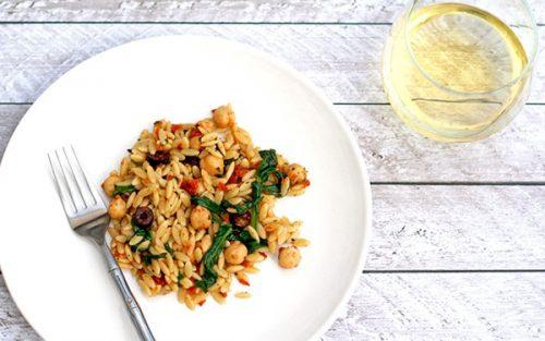 Orzo Pasta Salad {vegan & dairy free}