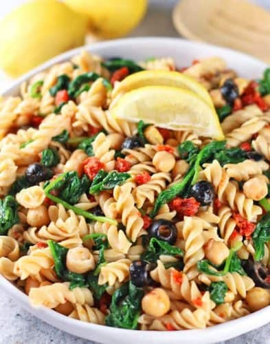 Easy Vegan Pasta Salad {Low Oil}