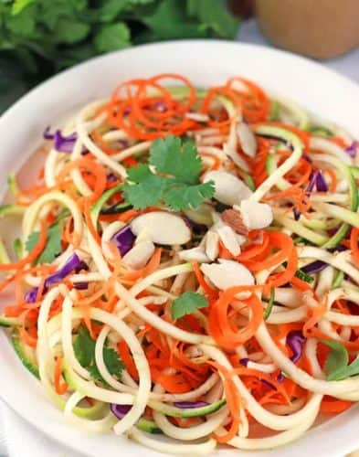 Spiralized Thai Salad with Peanut Dressing