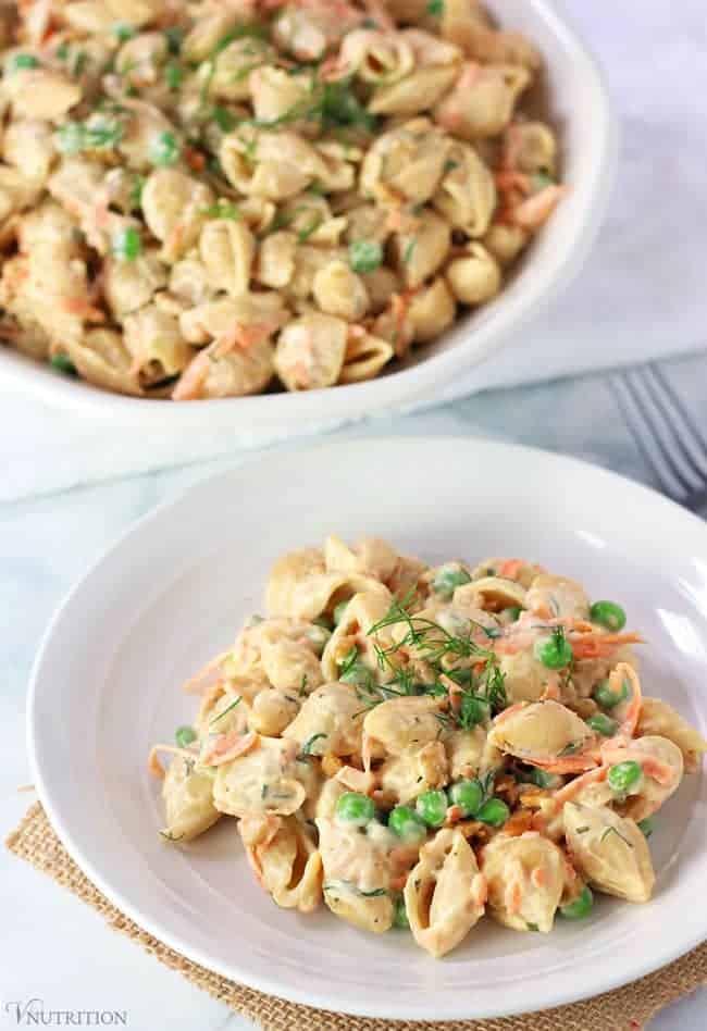 vegan ranch pasta salad
