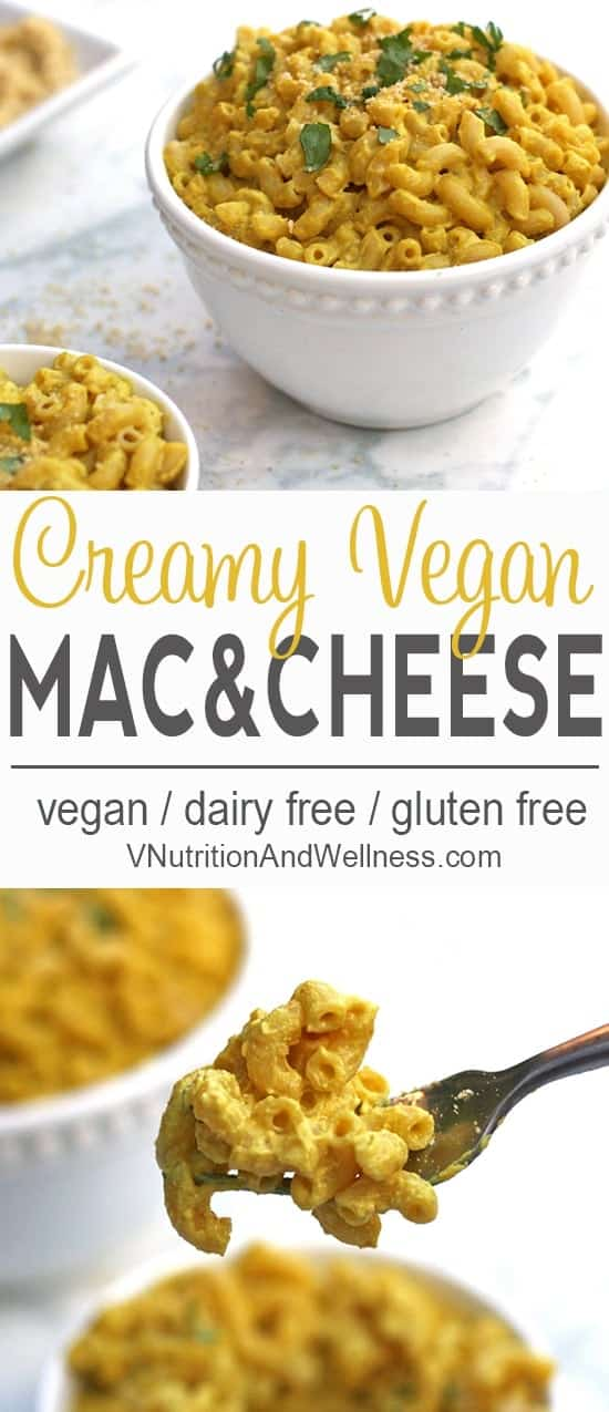 Creamy Vegan Mac and Cheese | You won't miss the dairy in this Vegan Macaroni and Cheese! vegan macaroni and cheese recipe, vegan recipe