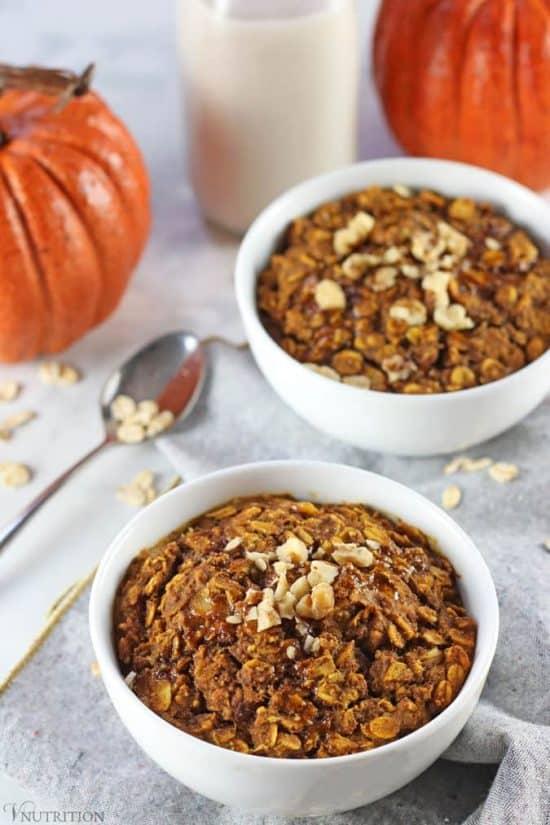 Vegan Baked Pumpkin Oatmeal