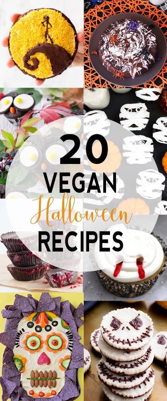 20 Vegan Halloween Recipes | Tasty and fun vegan Halloween recipes. vegan Halloween recipes, vegan Halloween treats