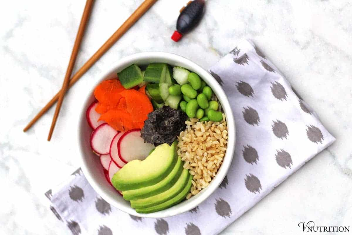 A Deconstructed Sushi Bowl is perfect when you want sushi but don't feel like ordering takeout or making some yourself. Add any veggies you like to make this bowl your own!