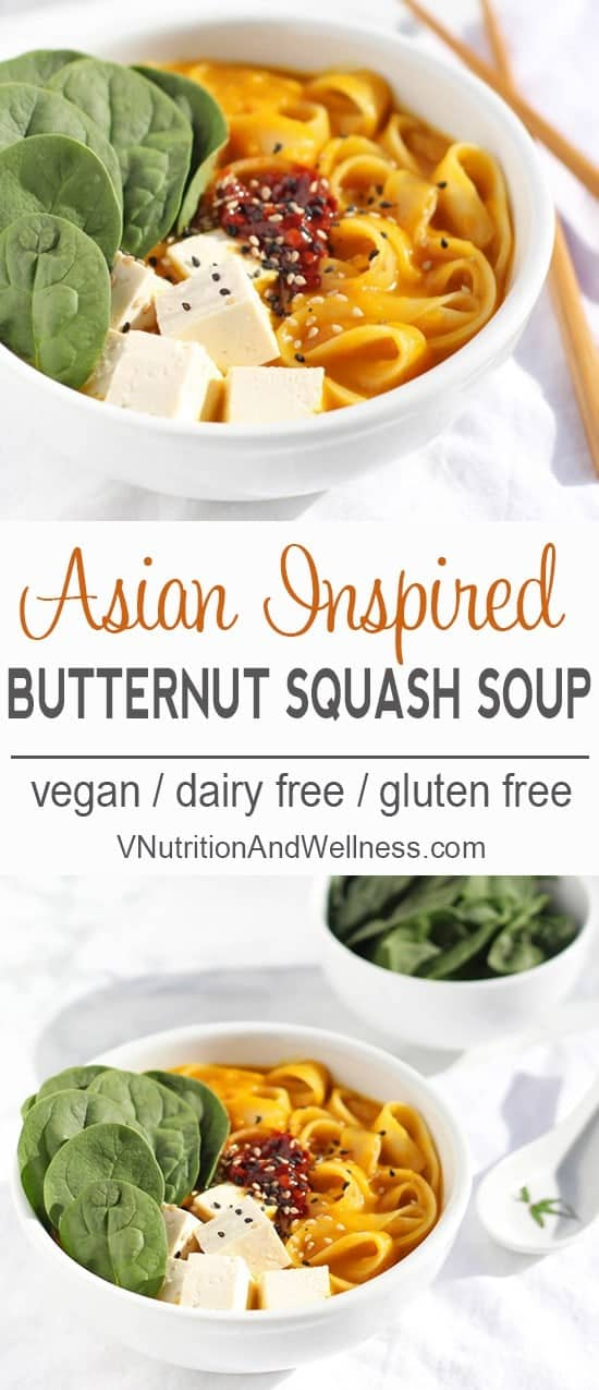 Butternut Squash Noodle Bowl | This Butternut Squash Noodle Bowl is a warming dish for chilly nights!
