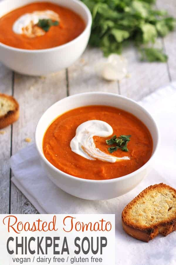 Roasted Tomato and Chickpea Soup