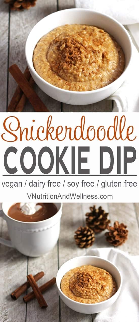 This Snickerdoodle Cookie Dip tastes just like the cinnamon sugar cookie! It's perfect for a healthier holiday treat!