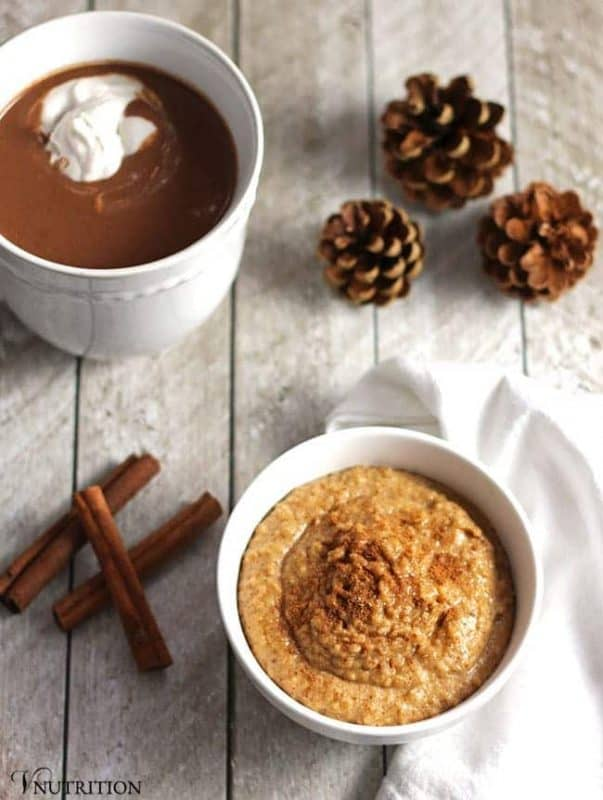 This delicious Snickerdoodle Dip tastes just like the cinnamon sugar cookie! It's perfect for a healthier holiday treat!