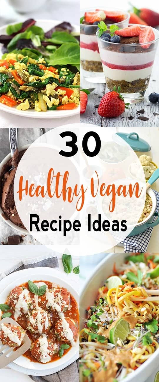 These Healthy Vegan Recipe are perfect when you're looking for a healthy breakfast, lunch, or dinner. This list includes ideas for plant-based recipes that are gluten free, low calorie, low carb and easy to make. #healthveganrecipes #healthyplantbasedrecipes #healthyveganrecipeideas #easyveganrecipes #vnutrition #healthplantbasedrecipeideas
