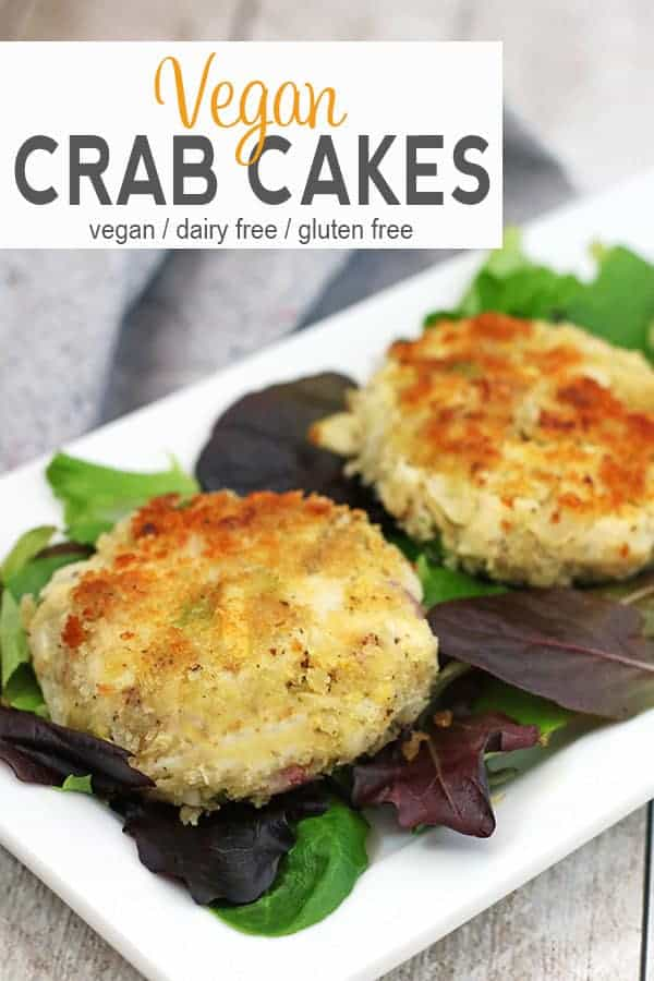 Vegan Crab Cakes | TheseVegan Crab Cakes are made with hearts of palm and artichokes. Savory and delicious, these cakes make a great entree, appetizer, or filling for a sandwich!vegan crab cakes, vegan recipe, vegan crab cake recipe #veganseafood #vegancrabcakes #veganappetizer #glutenfreevegancrabcakes