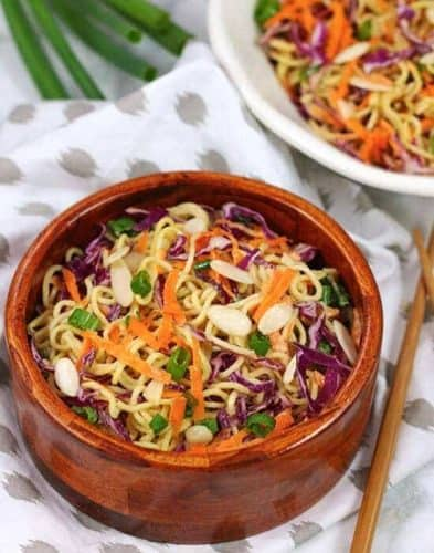 Healthy Vegan Ramen Noodle Salad {GF option}