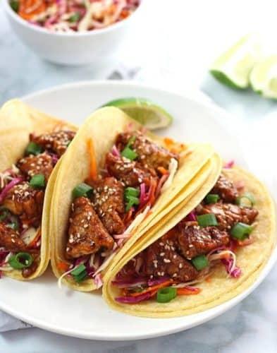 Teriyaki Tempeh Tacos {GF}