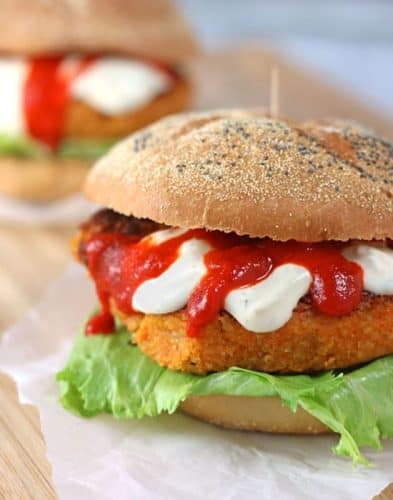 Sriracha Veggie Burgers {GF}