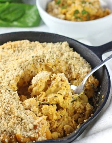 Baked Vegan Pumpkin Mac and Cheese {GF}