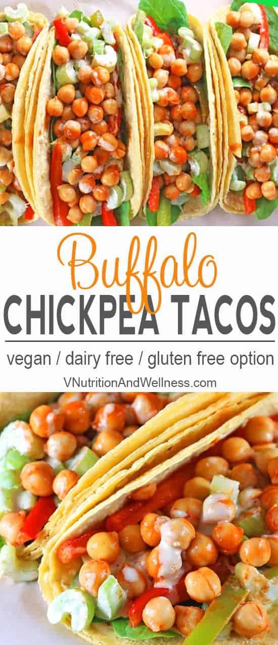 Buffalo Chickpea Tacos pinterest image