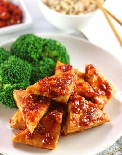 Tofu in Chili Garlic Sauce {GF}