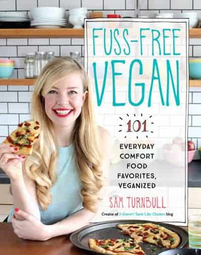 Fuss-free vegan book cover