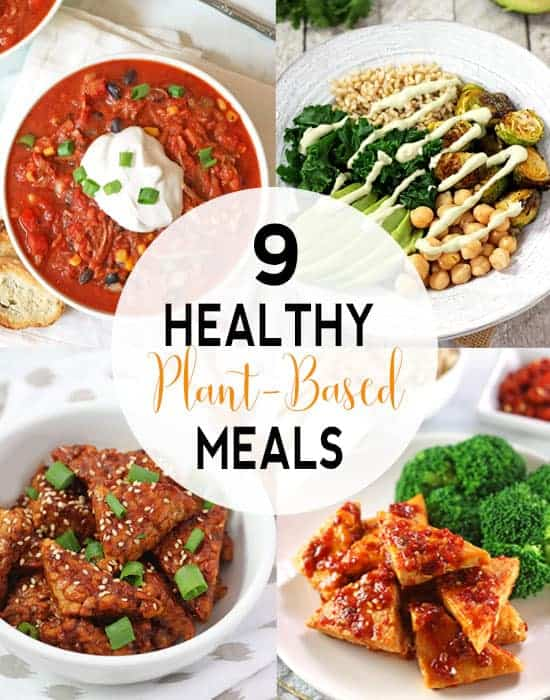 Healthy Plant Based Meal Ideas | Looking to get on a healthy path? Thinking about Going Vegan? Want some recipes to get you started? Well then, I have 9 plant-based meal ideas to get you started! #veganmeals #veganmealideas #veganrecipes
