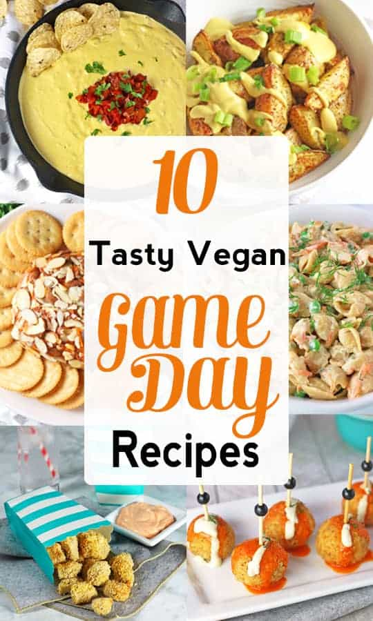 Vegan Game Day Snacks | Gameday is not only for sports, it's for eating! These delicious vegan game day recipes are perfect for vegans looking to enjoy tasty food for football, basketball, soccer or the Superbowl! They rival any omnivore fare! #vegansnacks #vegansuperbowlrecipes