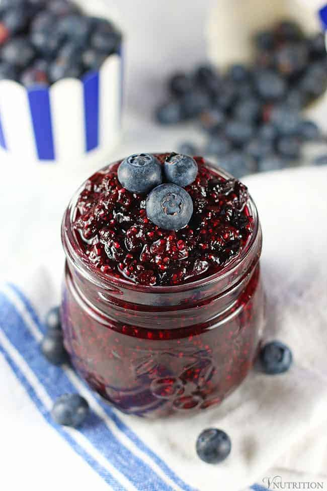 Easy Blueberry Chia Jam | Vegan Blueberry Chia Jam Recipe