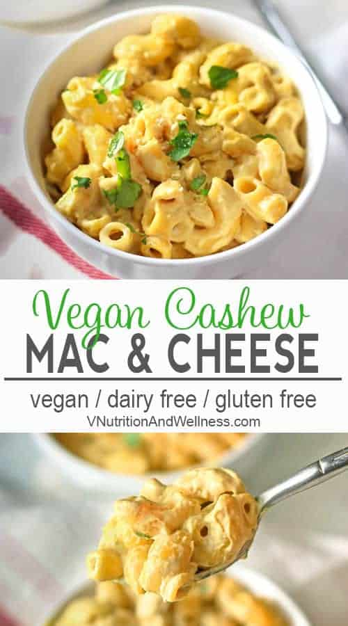 Creamy Vegan Cashew Mac and Cheese | You won't miss the dairy in this Vegan Macaroni and Cheese! vegan macaroni and cheese recipe, vegan recipe gluten-free, dairy-free, vegan recipe, vegetarian #veganpasta #veaganmacandcheese