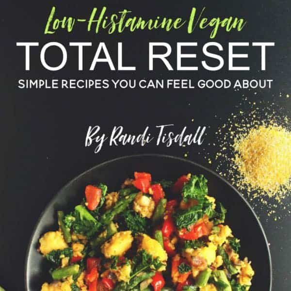 low histamine vegan book
