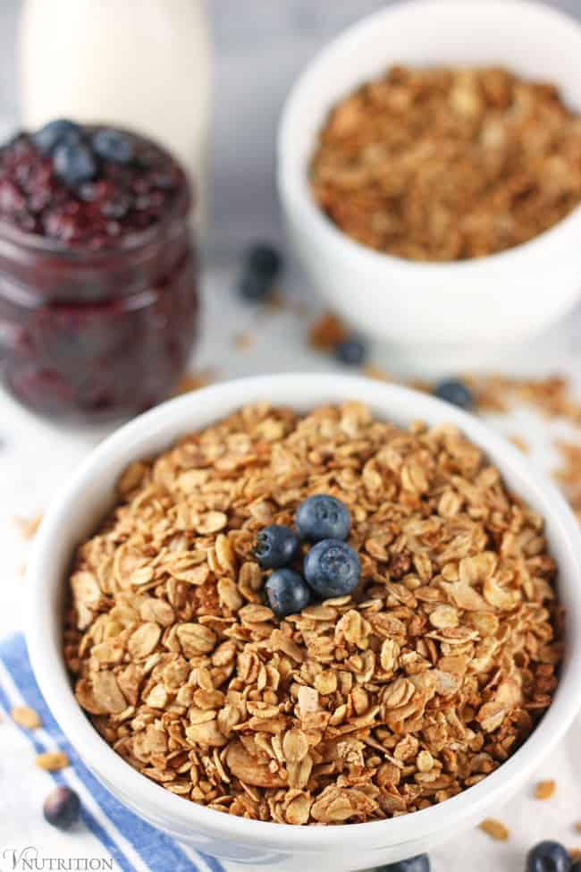 closeup of healthy granola
