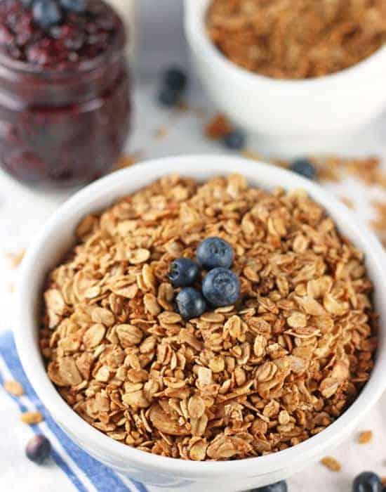 Healthy Granola Gluten Free Refined Sugar Free Granola Recipe