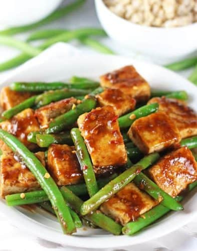 Simple Tofu Green Bean Stir Fry