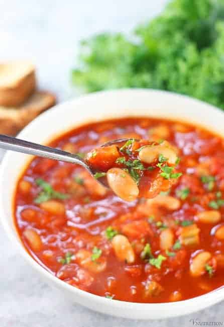 tomato white bean soup