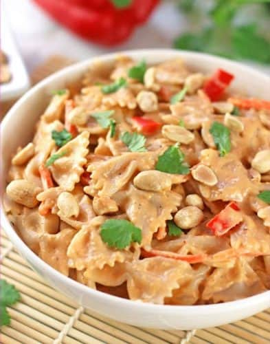 Vegan Thai Red Curry Mac and Cheese