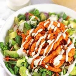 vegan buffalo chicken salad