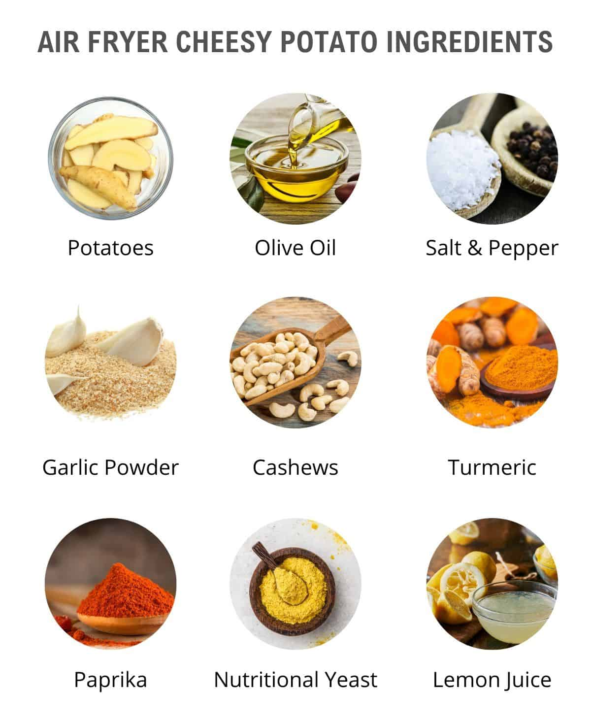 list of cheesy vegan potato ingredients