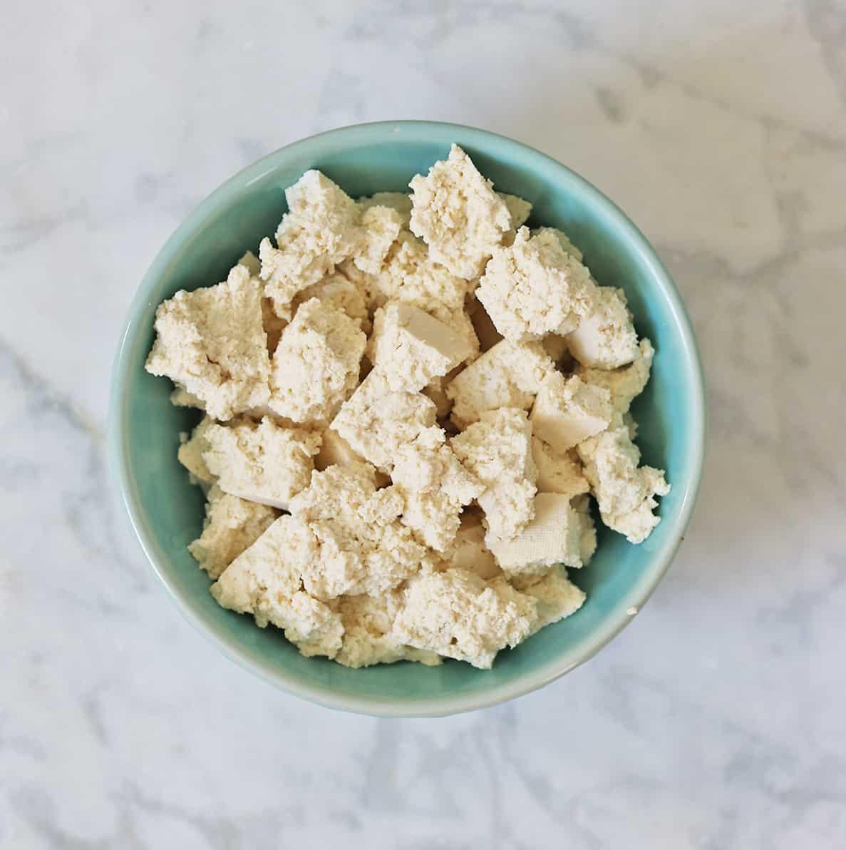 crumbled tofu