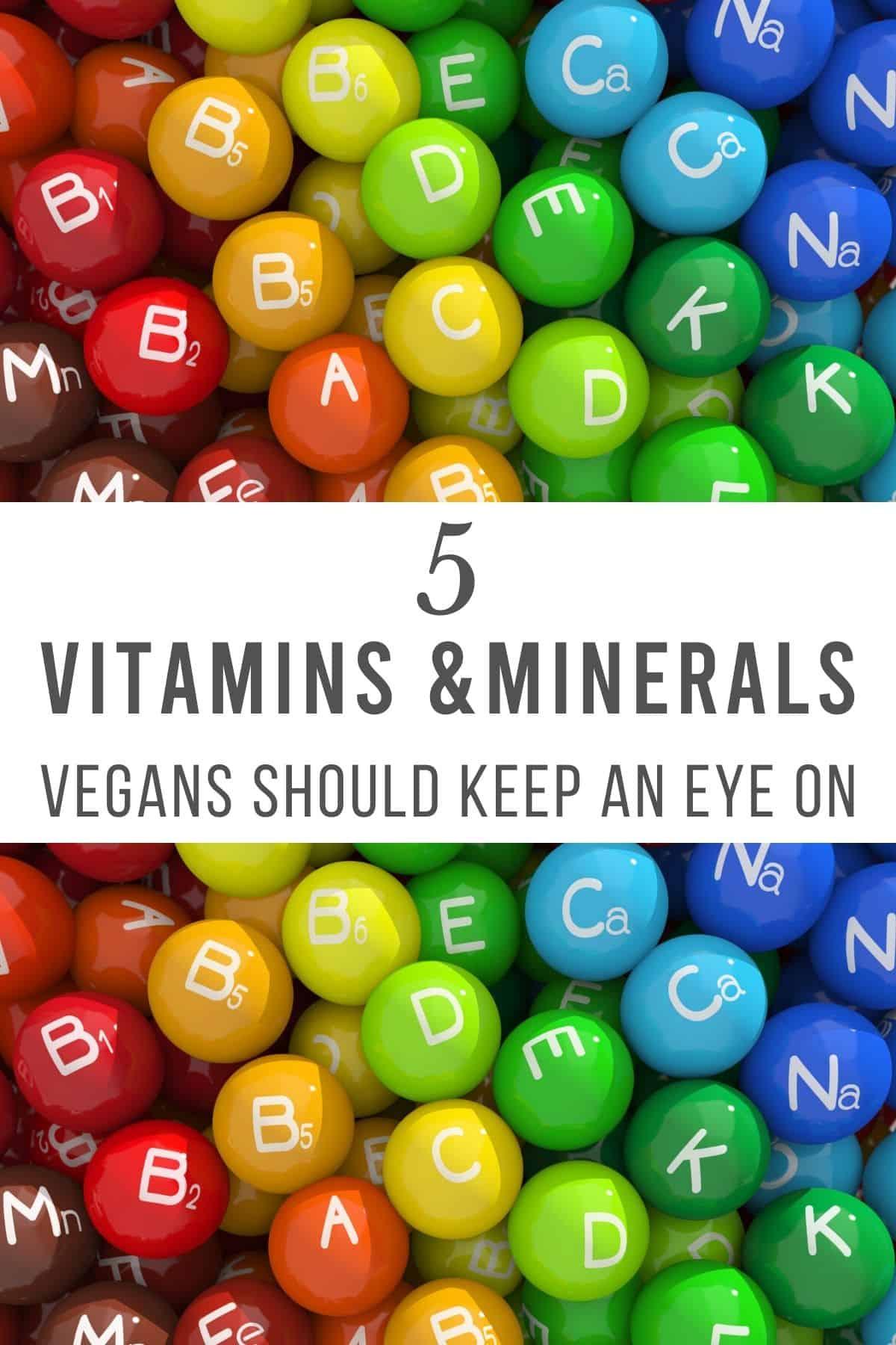 colorful balls with vitamin symbols