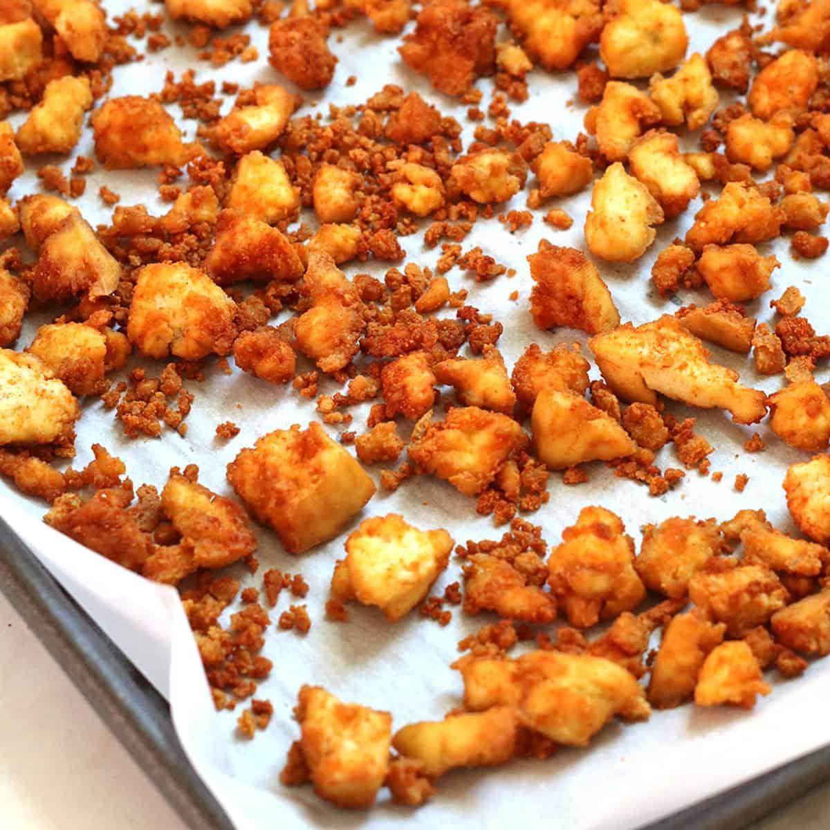 baked tofu crumbles