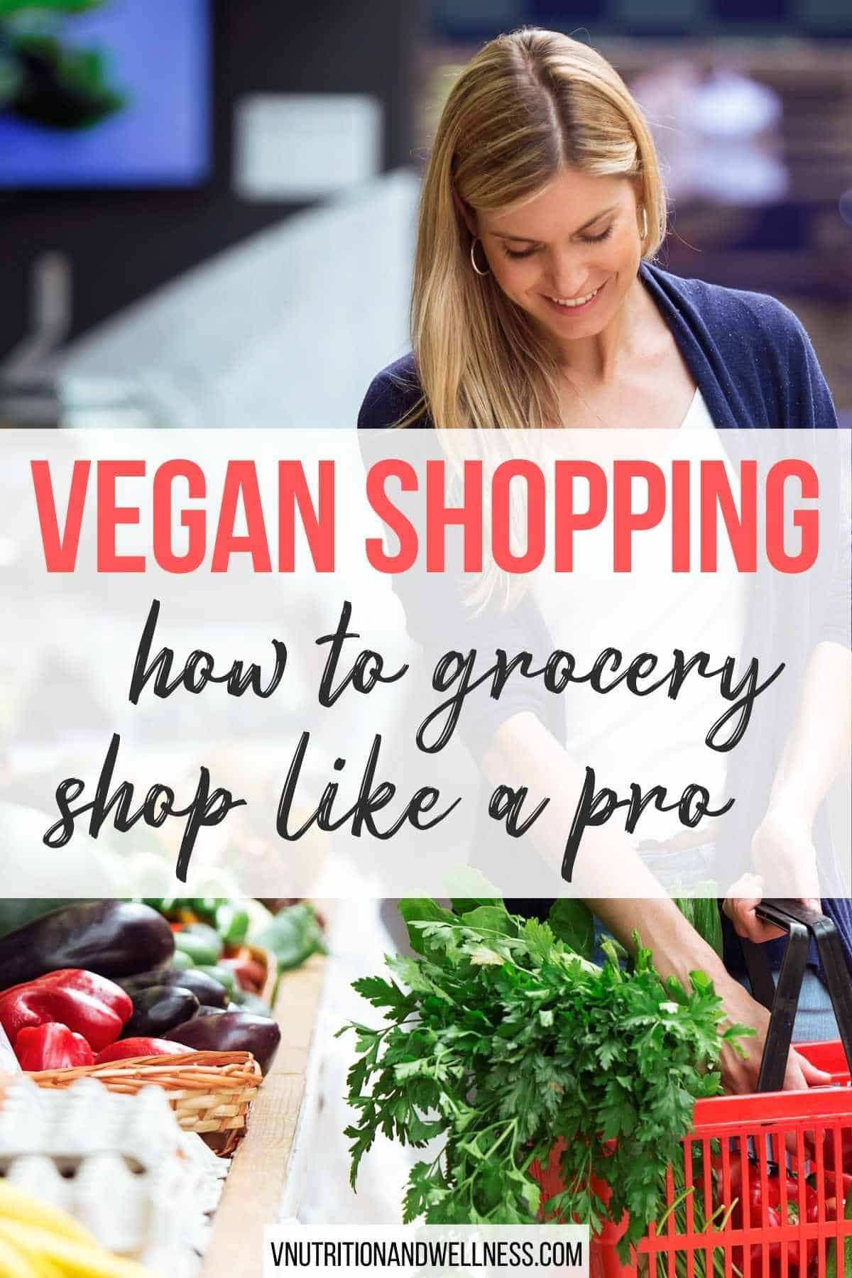 vegan shopping with woman in outdoor market