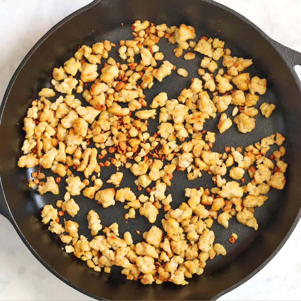 tempeh frying