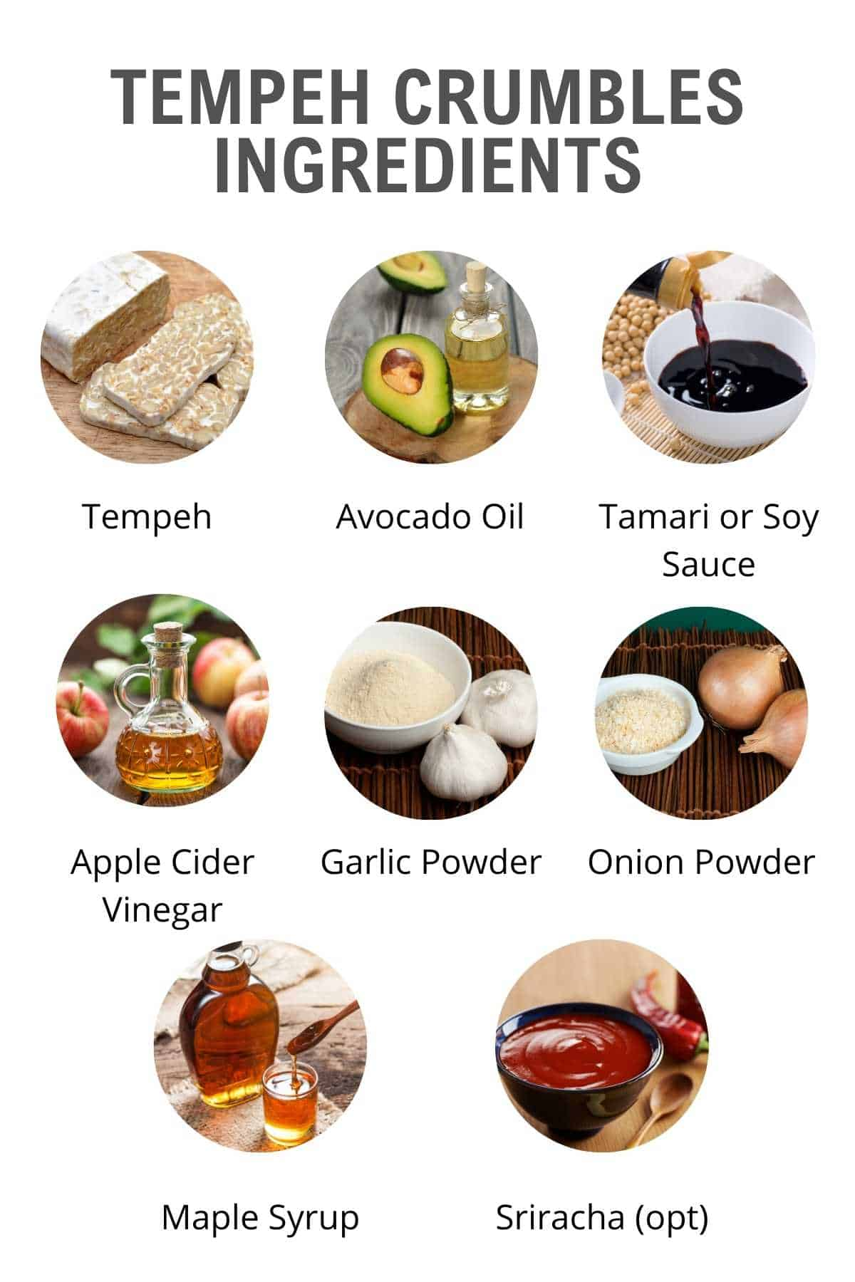 tempeh crumbles ingredients