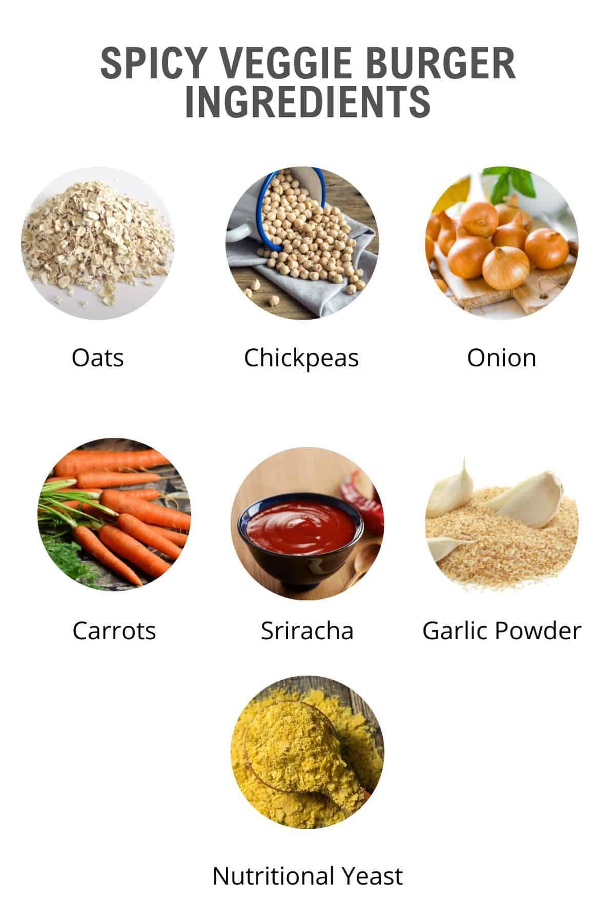 spicy veggie burger ingredients
