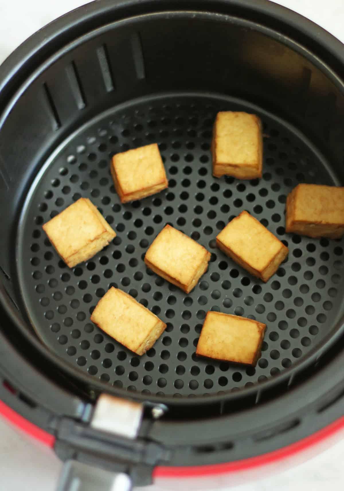 tofu squares in air fryer
